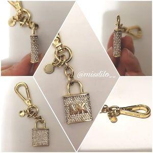 Michael Kors Lock Gold Key Chain